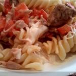 Thunfisch-Mozzarella-Nudeln